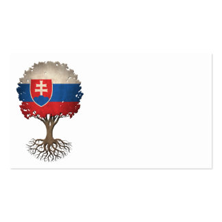 Slovakian Flag Tree of Life Customizable Pack Of Standard Business Cards