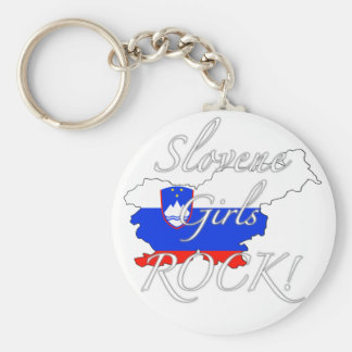 Slovene Girls Rock! Key Ring