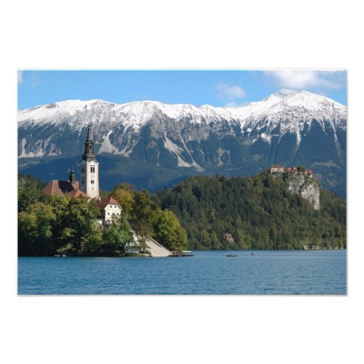 Slovenia, Bled, Lake Bled, Bled Island, Bled 2 Photographic Print