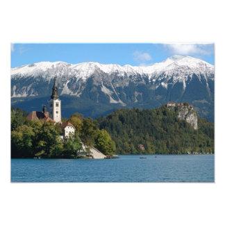 Slovenia, Bled, Lake Bled, Bled Island, Bled 2 Photo Print