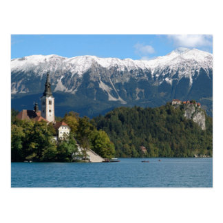 Slovenia, Bled, Lake Bled, Bled Island, Bled 2 Postcard