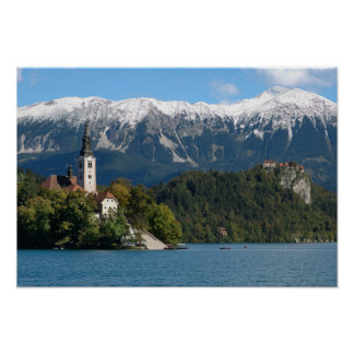 Slovenia, Bled, Lake Bled, Bled Island, Bled 2 Posters