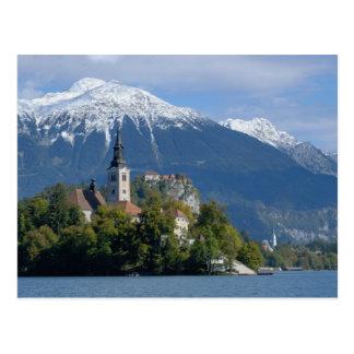 Slovenia, Bled, Lake Bled, Bled Island, Bled Postcard