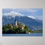 Slovenia, Bled, Lake Bled, Bled Island, Bled Poster