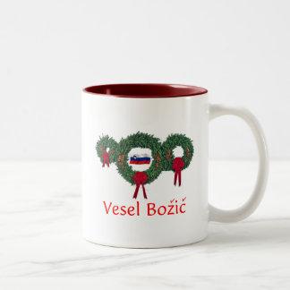 Slovenia Christmas 2 Two-Tone Coffee Mug