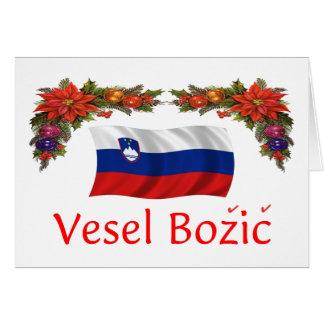 Slovenia Christmas Greeting Card