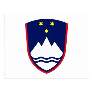 Slovenia Coat of Arms Postcard