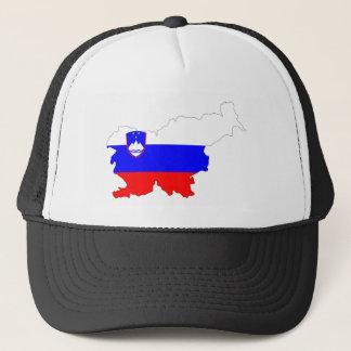 slovenia country flag map shape silhouette symbol trucker hat