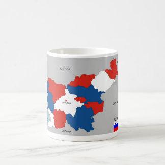 slovenia country political map flag coffee mug