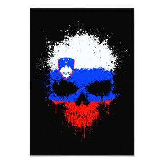 Slovenia Dripping Splatter Skull Announcements