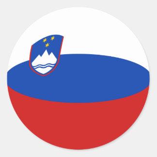 Slovenia Fisheye Flag Sticker