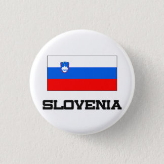 Slovenia Flag 3 Cm Round Badge