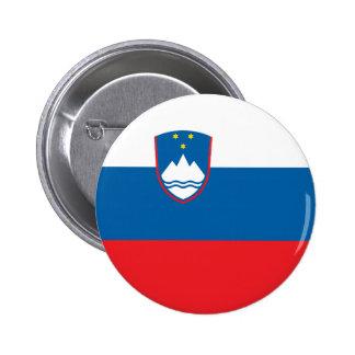 Slovenia Flag 6 Cm Round Badge