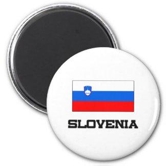 Slovenia Flag 6 Cm Round Magnet