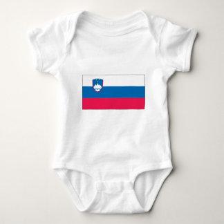 Slovenia Flag Baby Bodysuit