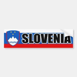 Slovenia Flag Banner Bumper Sticker
