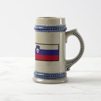 Slovenia Flag Beer Stein