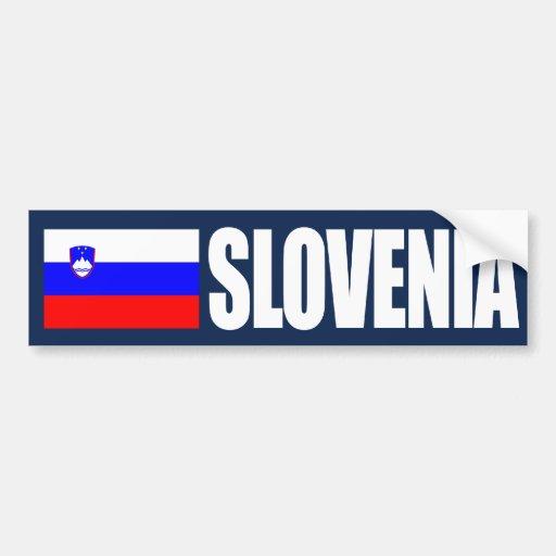 Slovenia Flag Bumper Stickers