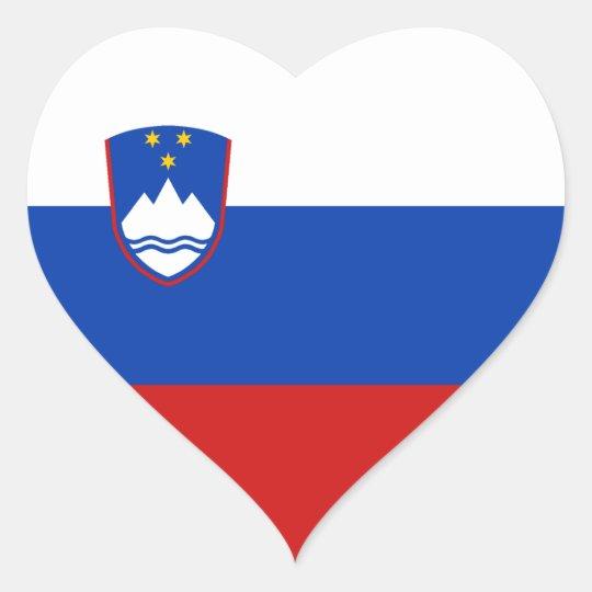 Slovenia Flag Heart Sticker