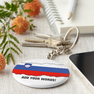 Slovenia Flag Key Ring