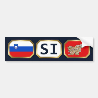 Slovenia Flag Map Code Bumper Sticker