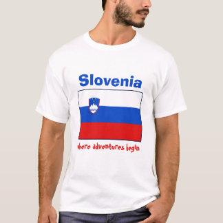 Slovenia Flag + Map + Text T-Shirt