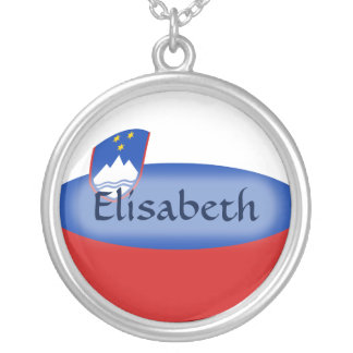 Slovenia Flag + Name Necklace