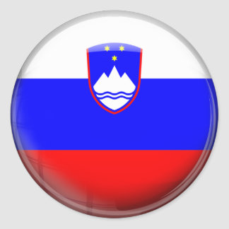 Slovenia Flag Round Sticker