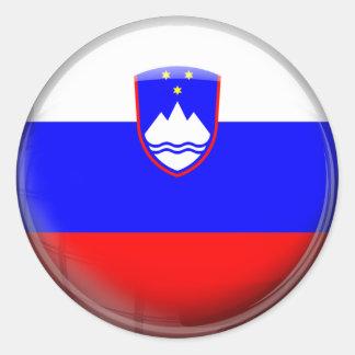 Slovenia Flag Round Stickers