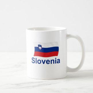 Slovenia Flag - w/inscription Basic White Mug