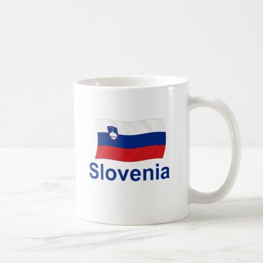 Slovenia Flag - w/inscription Coffee Mugs