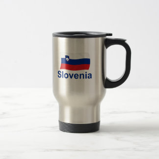 Slovenia Flag - w/inscription Travel Mug