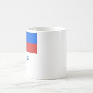 Slovenia Flag with Name in Slovenian Coffee Mug