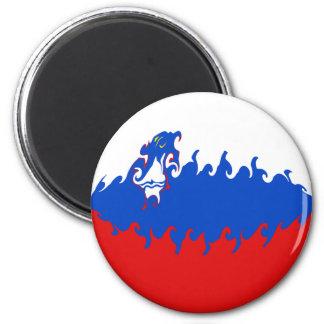 Slovenia Gnarly Flag Fridge Magnets