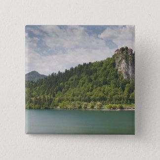 SLOVENIA, GORENJSKA, Bled: Bled Castle & 15 Cm Square Badge