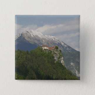 SLOVENIA, GORENJSKA, Bled: Bled Castle & 2 15 Cm Square Badge