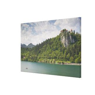 SLOVENIA, GORENJSKA, Bled: Bled Castle & Canvas Print