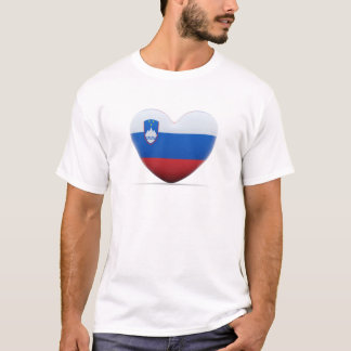 Slovenia Heart Flag T-Shirt