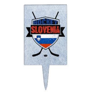 Slovenia Ice Hockey Shield Cake Topper