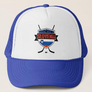 Slovenia Ice Hockey Shield Trucker Hat