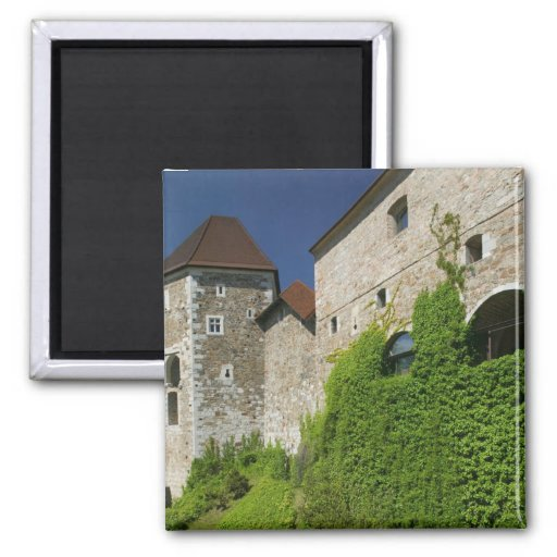 SLOVENIA, Ljubljana: Castle Hill / Ljubljana Fridge Magnets
