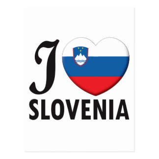 Slovenia Love Postcard