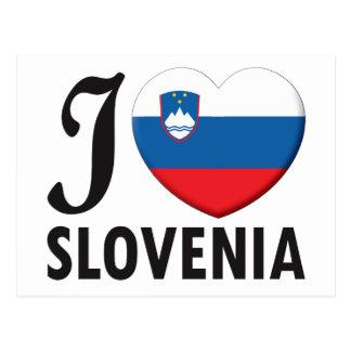 Slovenia Love Postcard