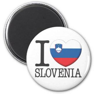 Slovenia 6 Cm Round Magnet