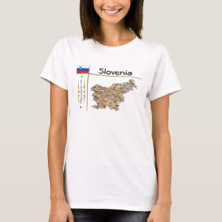 Slovenia Map + Flag + Title T-Shirt