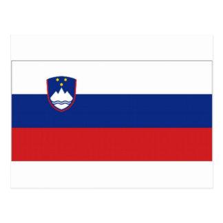 Slovenia National Flag Postcard