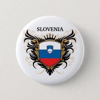 Slovenia [personalize] 6 cm round badge
