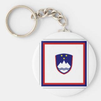 Slovenia President Flag Key Chain