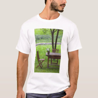 SLOVENIA, PRIMORSKA, Spodnja Idrija: Table on T-Shirt