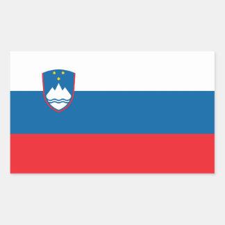 SLOVENIA RECTANGULAR STICKER